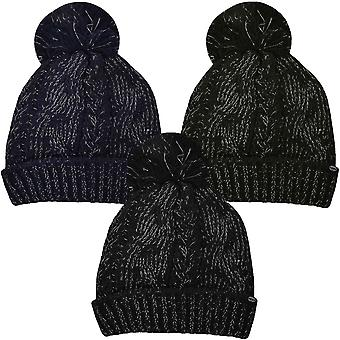 ProClimate Womens Thinsulate Waterproof Knitted Winter Pom Pom Beanie Bobble Hat