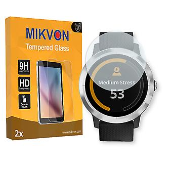 Garmin vivoactive 3 Screen Protector - Mikvon flexible Tempered Glass 9H (Retail Package with accessories)