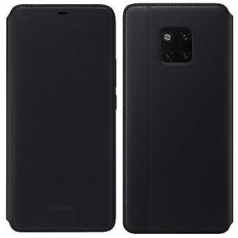 Huawei plånbok svart täcker fallet för mate 20 Pro bok flip cover väska