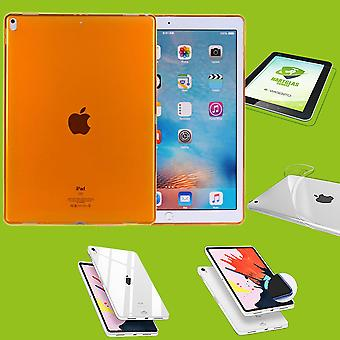 For Apple iPad Pro 11.0 inch 2018 Orange sleeve case cover + H9 hard glass case