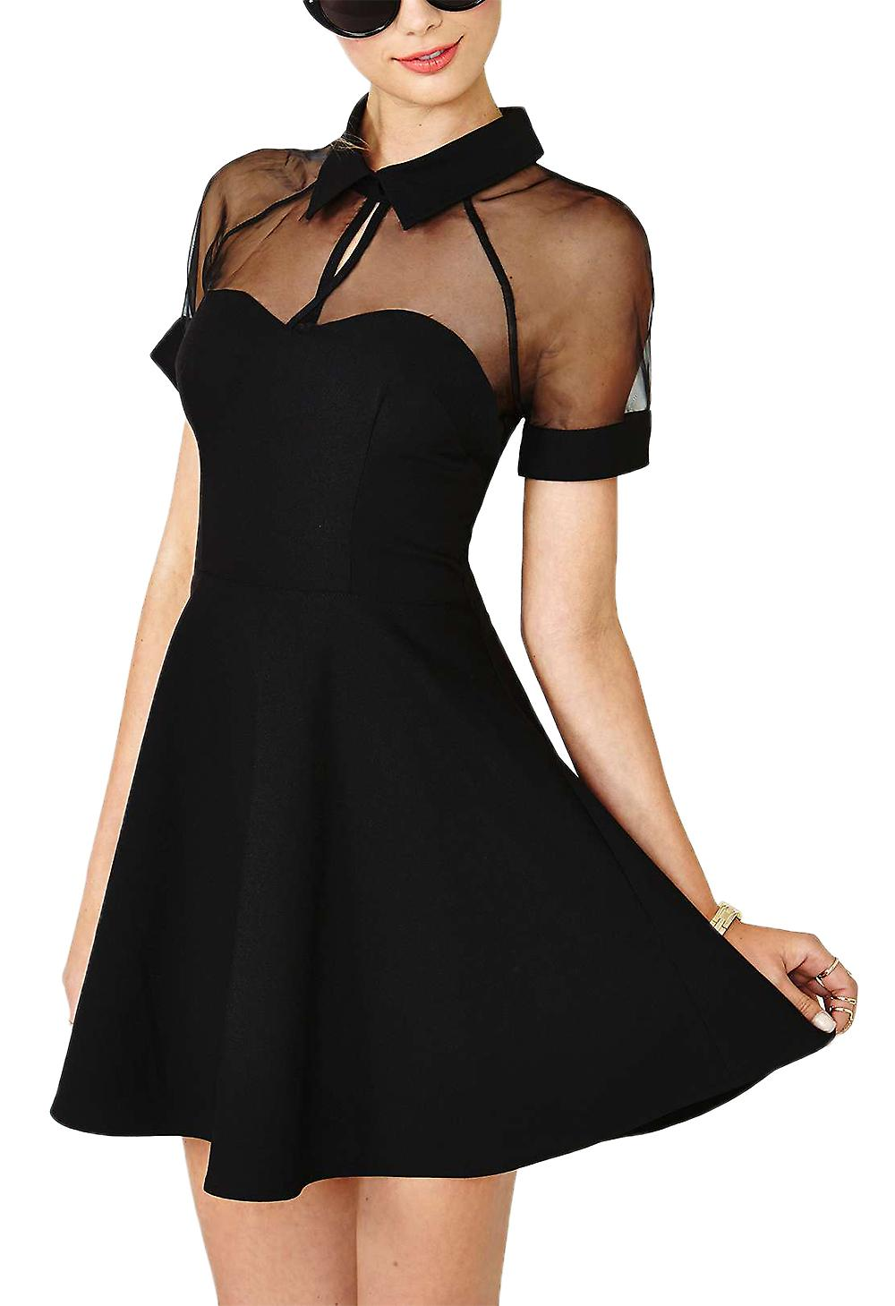 Waooh - transparent dress neckline Ozee