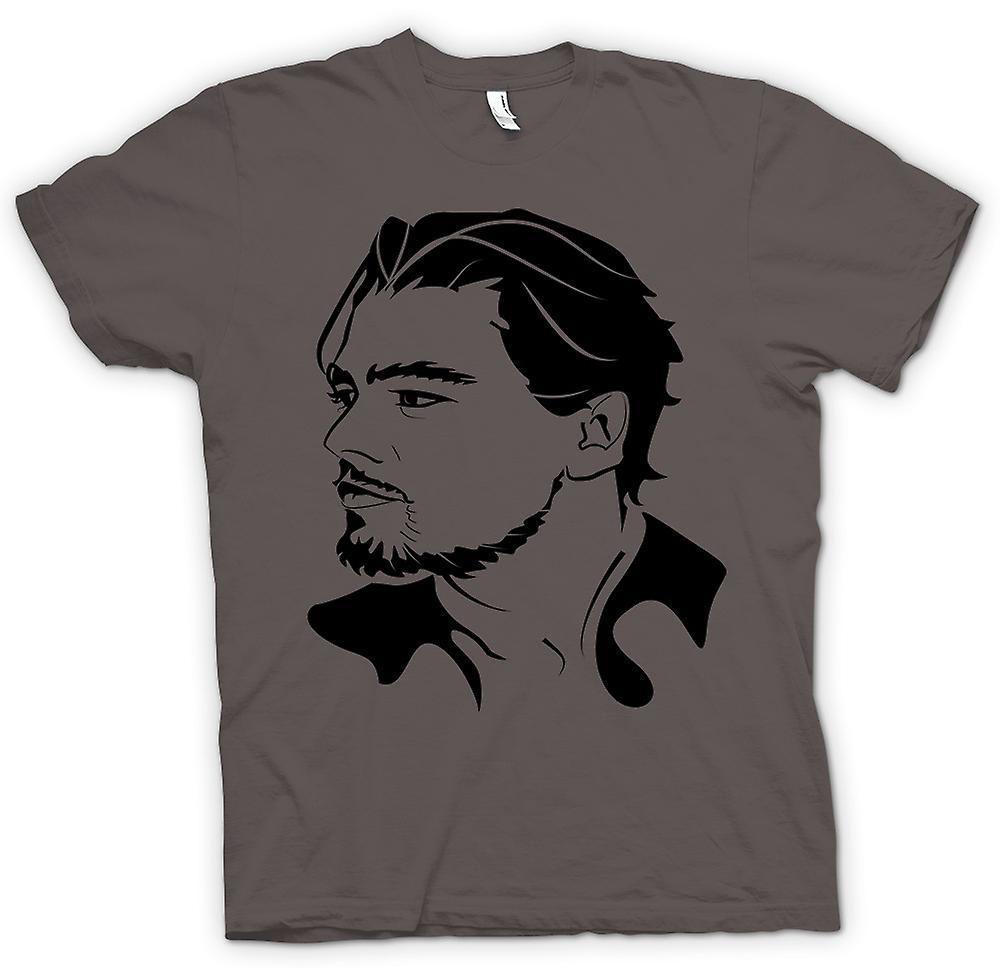 Camiseta para hombre-Leonardo Dicaprio Portrait