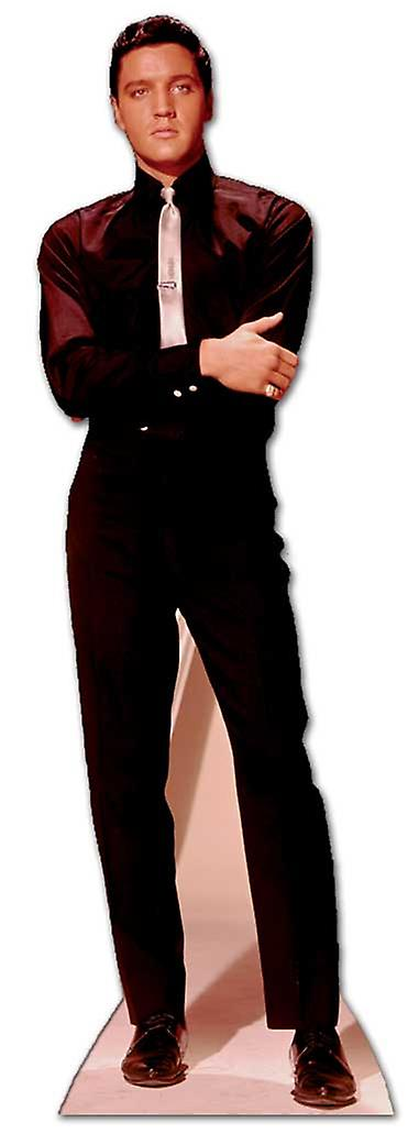 Elvis in Black Suit and White Tie - Lifesize Cardboard Cutout / Standee
