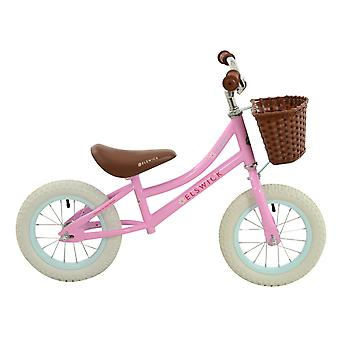 Elswick Daisy Girls 12 Inch Balance Bike White/Pink- MV Sports