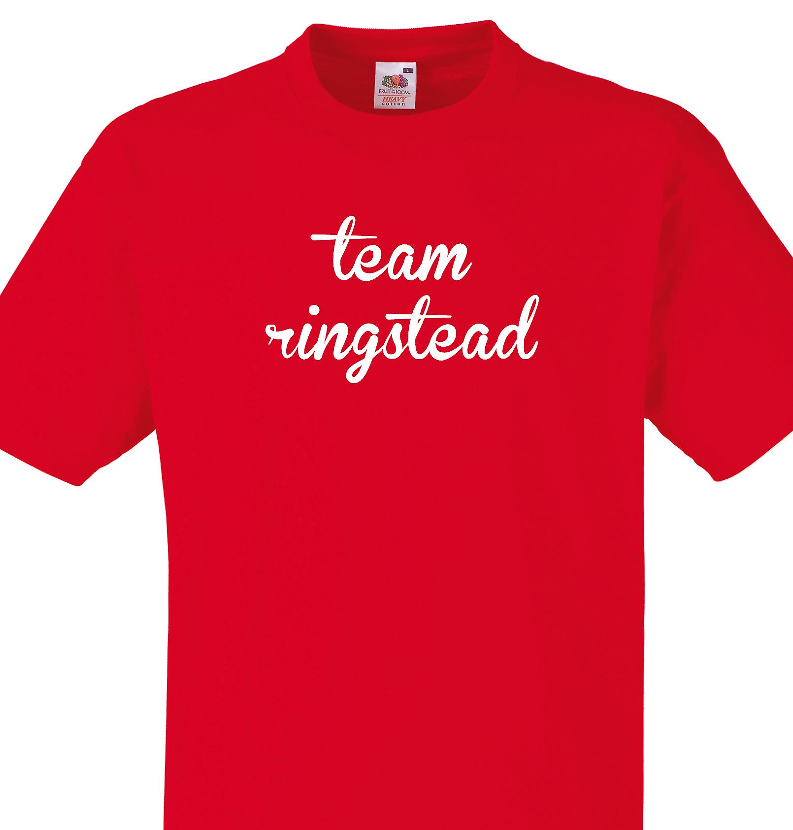 Team Ringstead Red T shirt