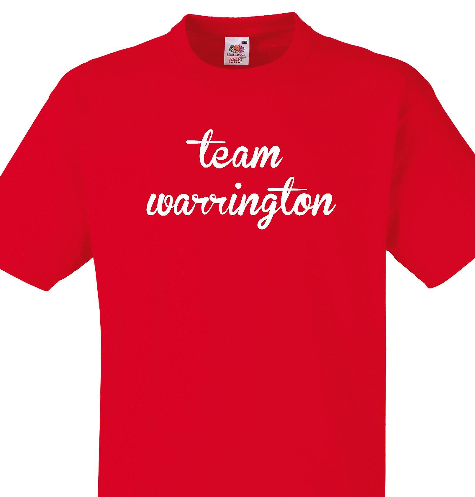 Team Warrington Red T shirt