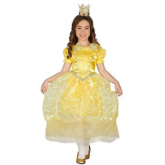 Costume de princesse déguisements filles doré de conte de fées