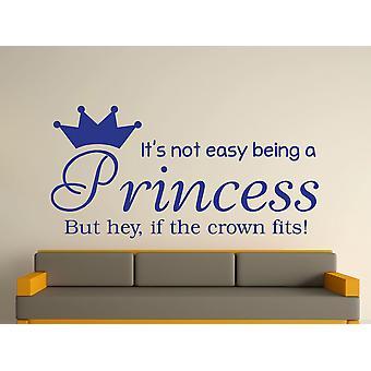 Being A Princess Wall Art Sticker - Dark Blue