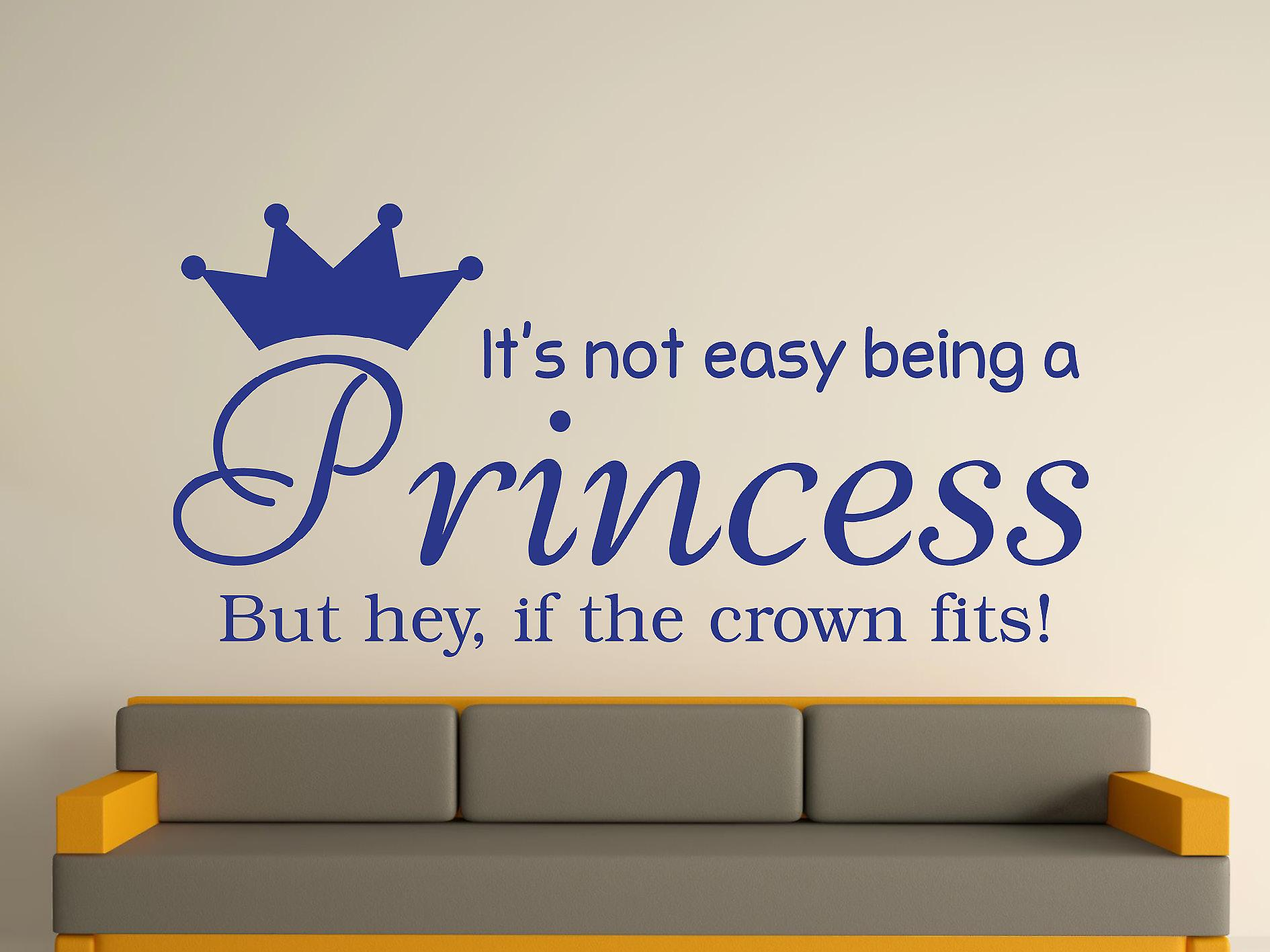 Being A Princess Wall Art Sticker - Dark Blue