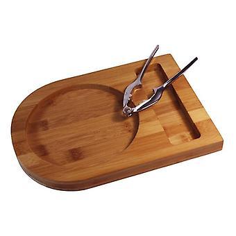 Bamboe Stockholm houten dienblad met Notenkraker 25x18.5x2cm