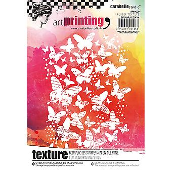 Carabelle Studio Art afdrukken A6 rubberen textuur plaat-vlinders