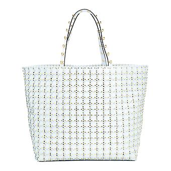 Red Valentino Light Blue Leather Tote