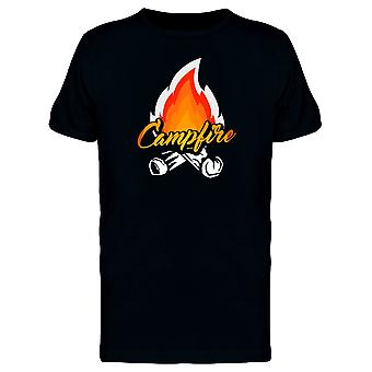 Campfire Caption Cool Design Tee Men's -Image by Shutterstock