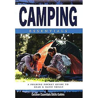 Camping Essentials: Een waterdichte vouwen Pocket Guide voor begin & ervaren kampeerders (buiten Essentials vaardigheden gids)