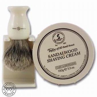 Taylor of Old Bond Street Sandalwood Shaving Cream and Brush Set