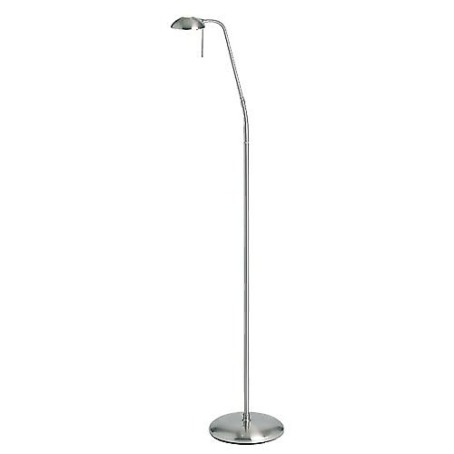 Endon 656-FL-SC Satin Chrome Touch Dimmer Reading Floor Lamp