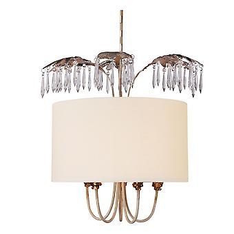 Elstead-5 luz colgante-crema, oro, plata hoja de acabado-FB/ANTOINETTE/P