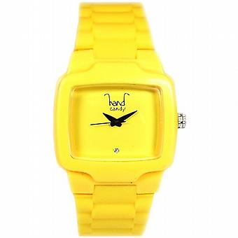 Hand Candy Bumpy Yellow Rubber Ladies Watch - HCTVYL