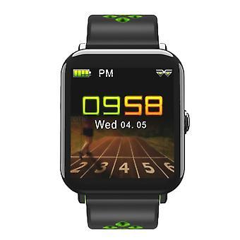 D6 multi-função de relógio rastreador de atividade, impermeável-preto e verde
