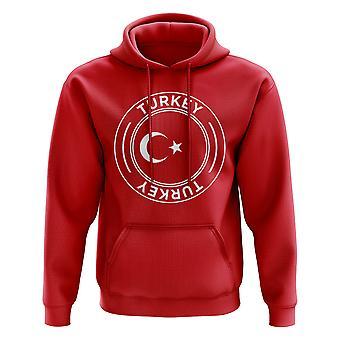 Pavo fútbol insignia sudadera con capucha (rojo)
