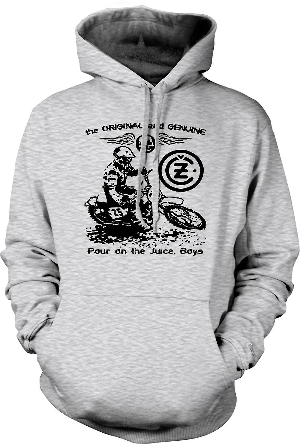 Moto clásica para hombre con capucha - Jawa CZ jugo-