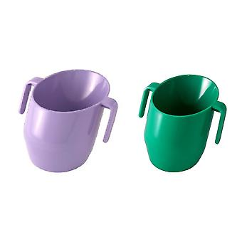 Doidy Bundle - Lilac Solid Colour And Green Solid Colour - 2 Items Supplied