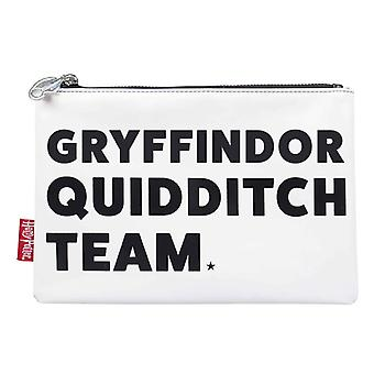 Harry Potter Travel Pouch Purse Gryffindor Quidditch Team new Official White