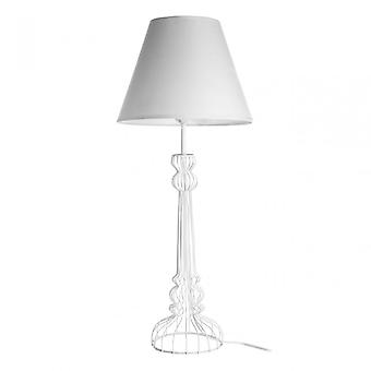 Premier Home Chicago White Table Lamp, Powder Coated Wire, White