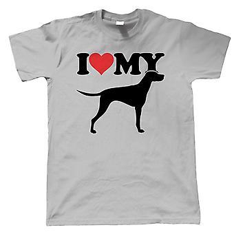 I Love My Hongrois Vizsla Mens T-Shirts (fr) Dog Gift Fur Baby Lover Propriétaire Mans Best Friend (fr) Crufts Dog Show Kennel Club Pedigree Breed Chiot (fr) Chiens Lui cadeau papa