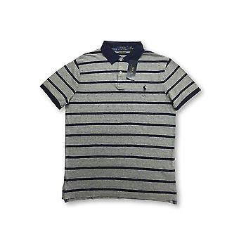 Ralph Lauren Polo custom slim fit polo in grey/navy st