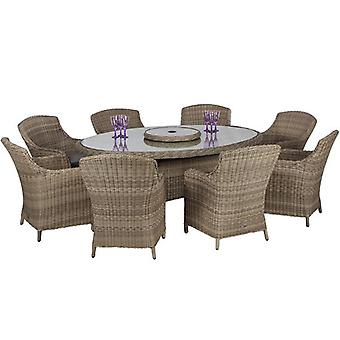 Royalcraft Wentworth Rattan 8 Seat Imperial Chair Oval Dining Set