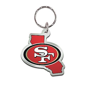 Wincraft STATE Keychain - NFL San Francisco 49ers