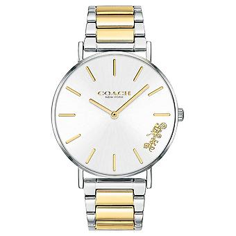 Coach | Womens | Perry | Two Tone Bracelet | Silver Dial | 14503347 Watch