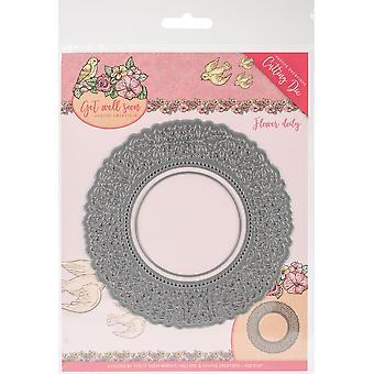 Trouver Yvonne Créations Yvonne Die-Flower Doily, Get Well Soon