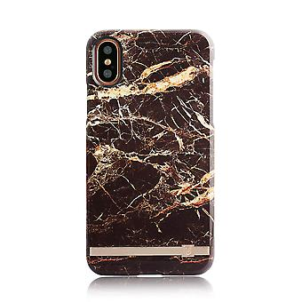 iPhone X Brown/Gold Marble Print Design