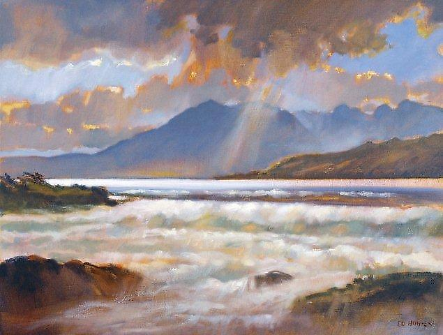 Ed Hunter print - Storm Over Arran