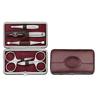 Zwilling Case With Mouthpiece, Skin Legitimate, Bordeaux, 5 Pieces