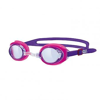 Zoggs Ripper Junior Swim Goggle - Tinted Lens - Pink Frame