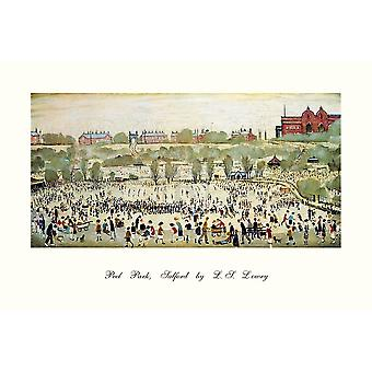 Peel Park Salford 1944 Poster Print by LS Lowry (12 x 8)