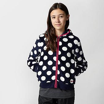 New Peter Storm Girl's Dotty Walking Full Zip Fleece Navy
