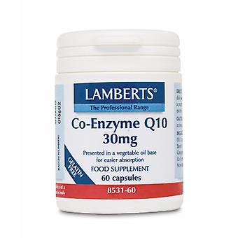 Lamberts Co-Enzyme Q10 30mg, 60 capsules