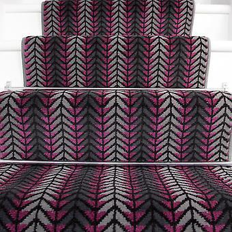 50cm Width - Modern Purple Chevron Stair Carpet