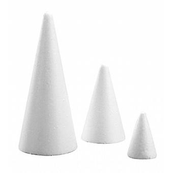 210mm Polystyrene Cone to Decorate | Styrofoam Shapes for Crafts