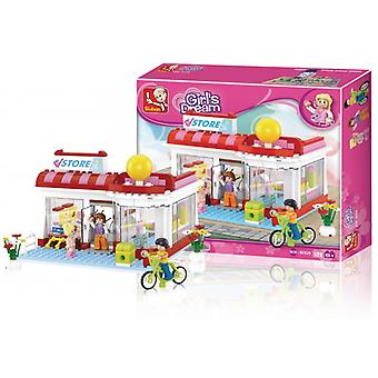 Sluban Building Blocks Girls Dream Series Supermarket