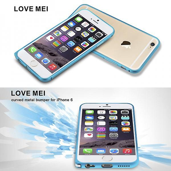 Original LOVE MEI metal silver bumper for Apple iPhone 6 4.7