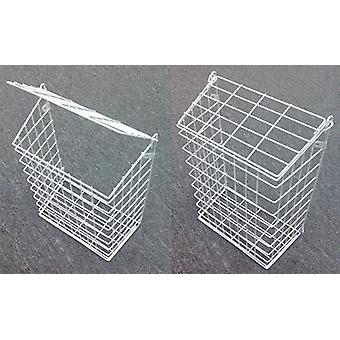 White Letter Box Catcher Basket With Lift Up Lid