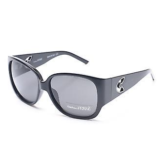 Gianfranco Ferré kvinners avrundet kvadrat solbriller svart/sølv