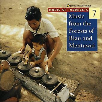 Musik av Indonesien 7 - musik från the skogar av Riau [CD] USA import