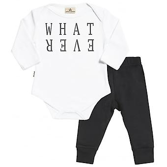 Faul verwöhnt, was auch immer Babygrow & Jersey Hose Outfit Set