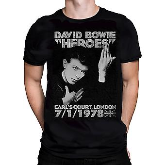 Born2rock David Bowie helte Herre T-shirt